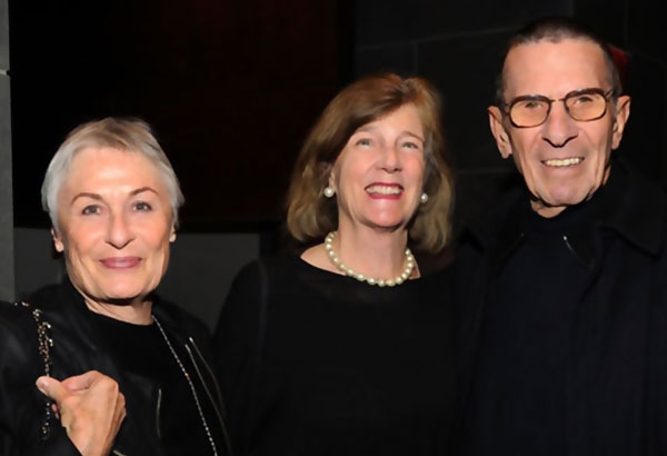 With Susan and Leonard Nimoy at the ceremony.